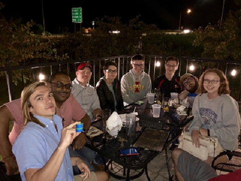Graduate Students at Trivia Night